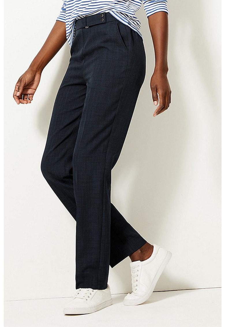Pantaloni cu croiala dreapta si catarama