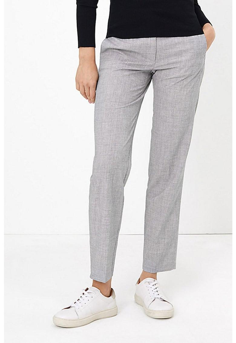 Pantaloni cu croiala dreapta si buzunare laterale