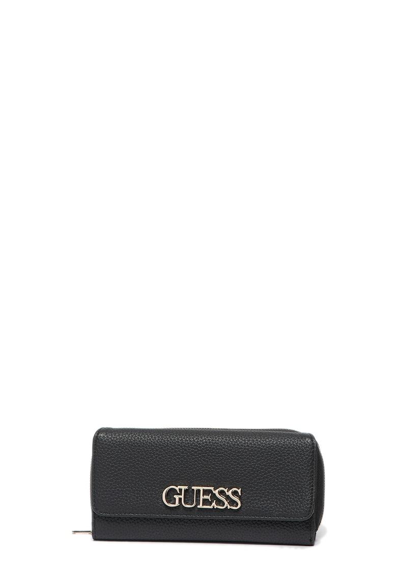 Guess Portofel din piele ecologica cu aplicatie logo metalica Uptown Chic