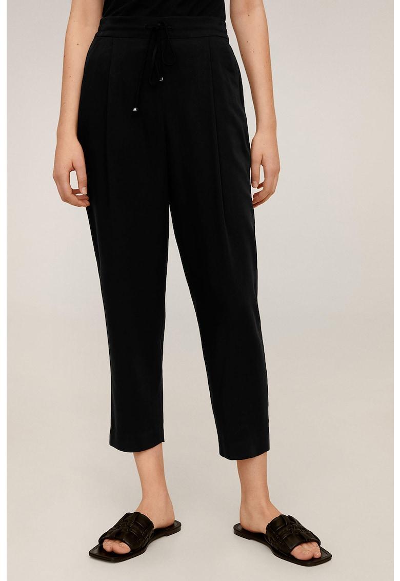 Pantaloni crop din amestec de lyocell Fluido