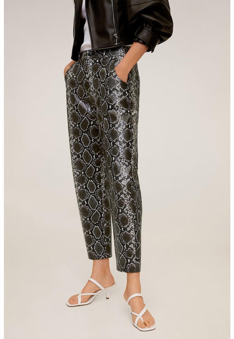 Pantaloni cu model piele de sarpe Piton