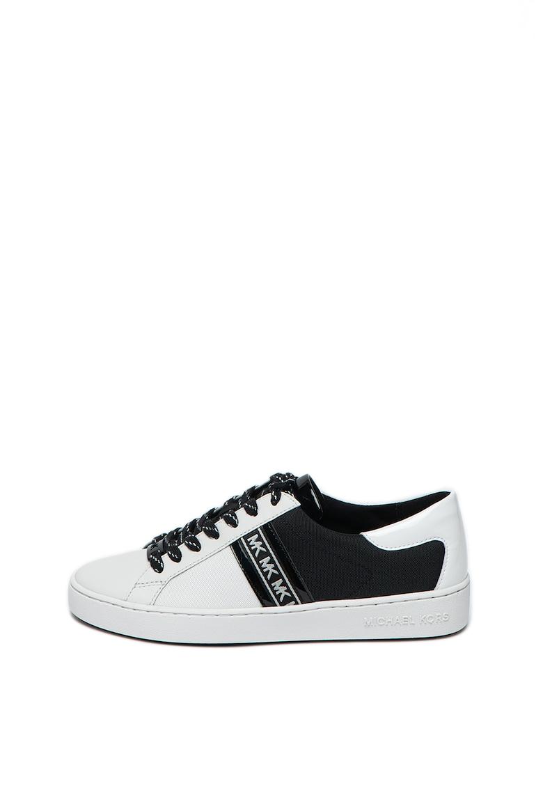 Pantofi sport de piele cu garnituri din material textil Keaton Michael Kors fashiondays.ro