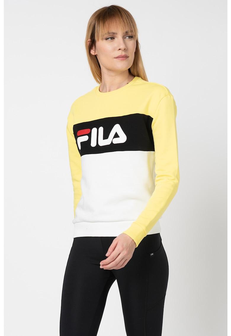 Bluza sport cu model colorblock si logo Leah