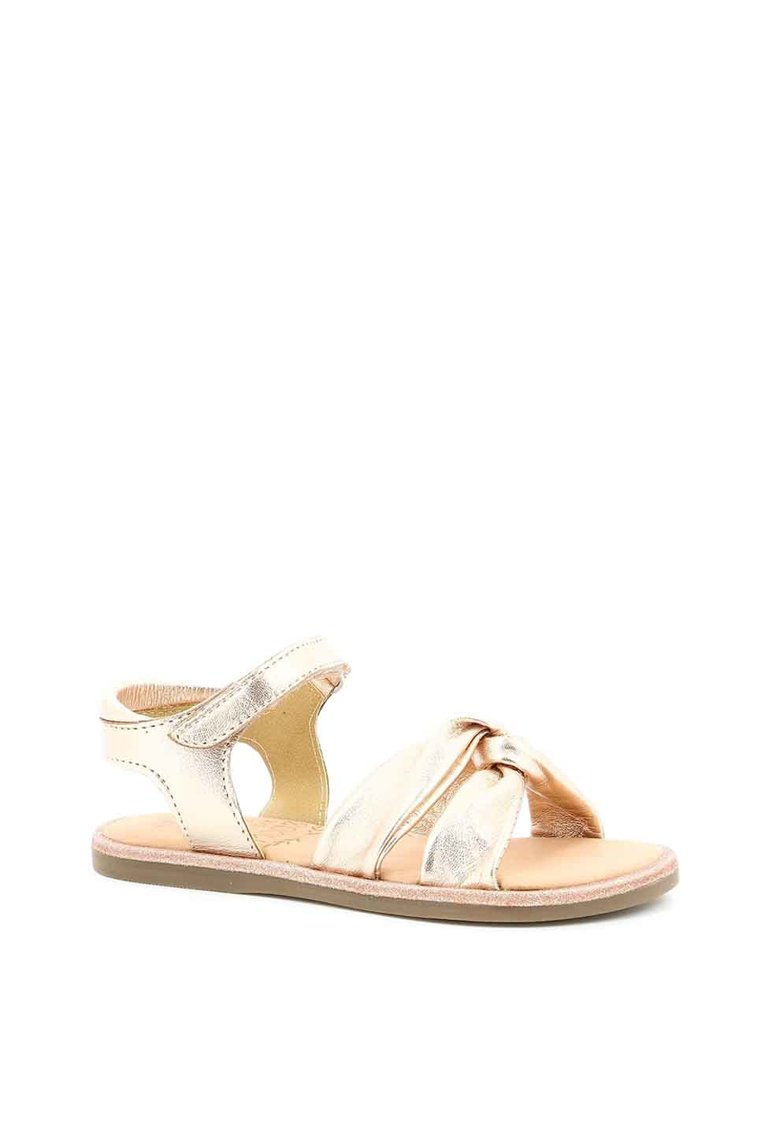Sandale de piele cu aspect metalizat poza fashiondays