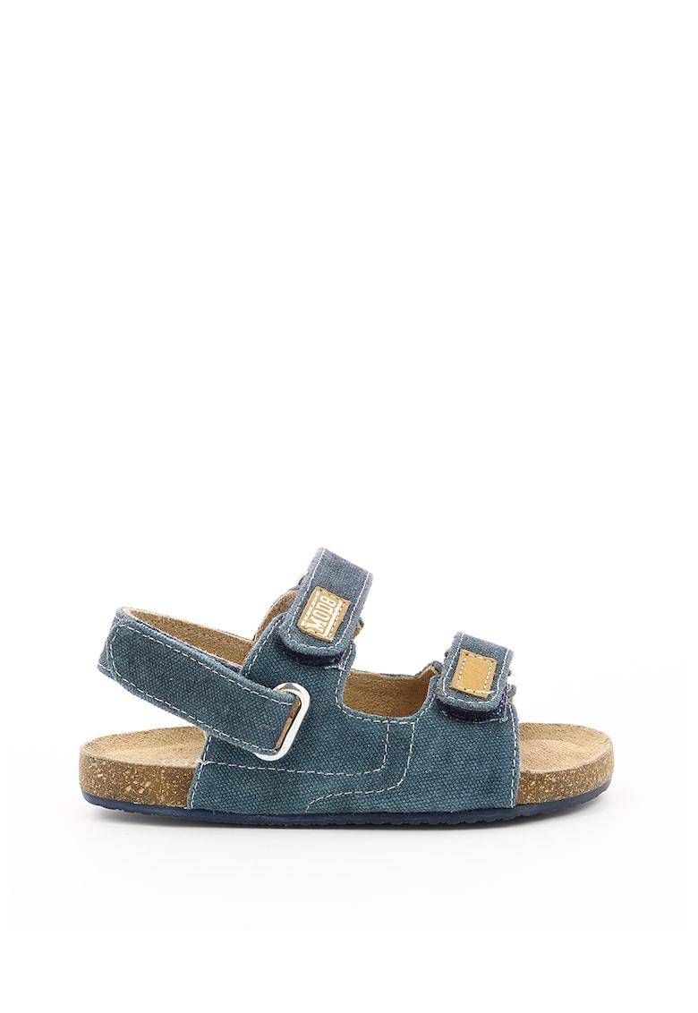 Sandale din material textil cu inchidere velcro