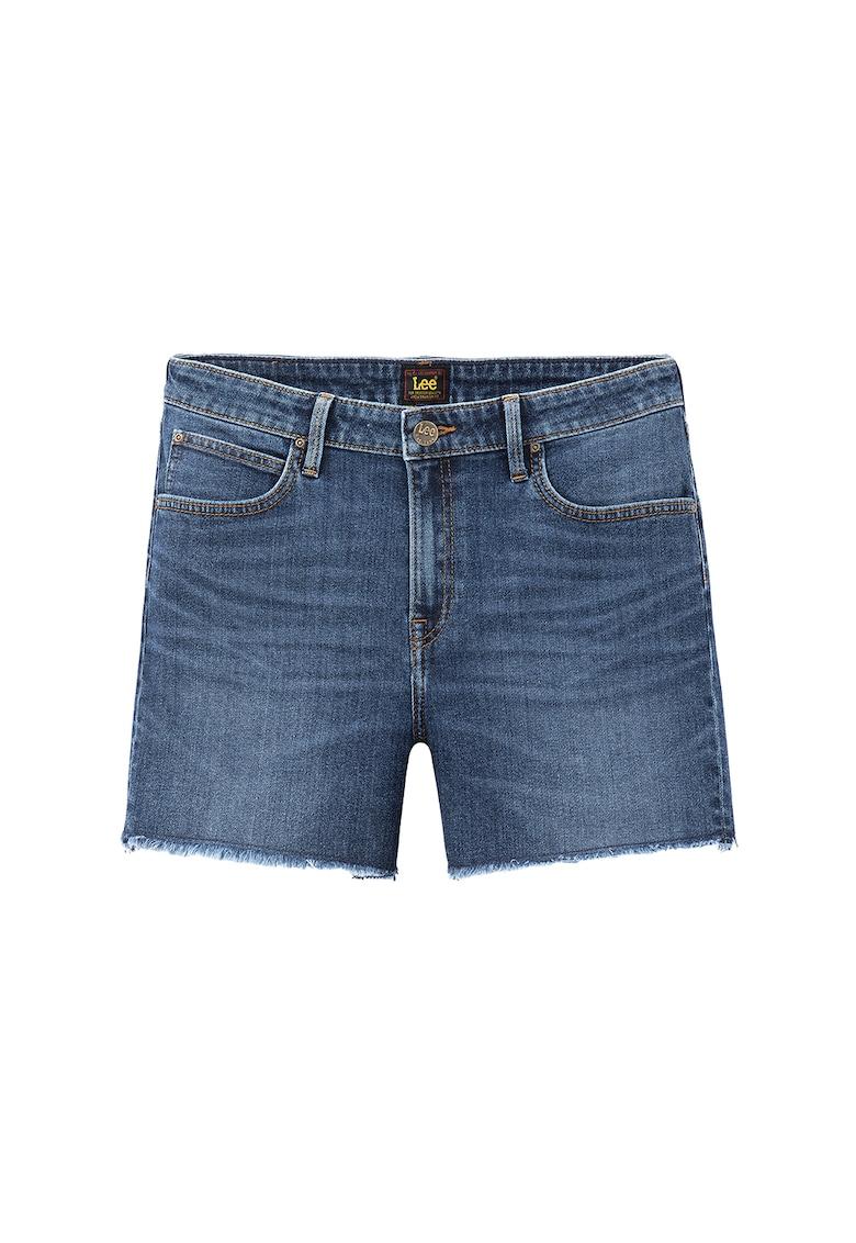 Pantaloni scurti de denim cu terminatii franjurate Hawaii