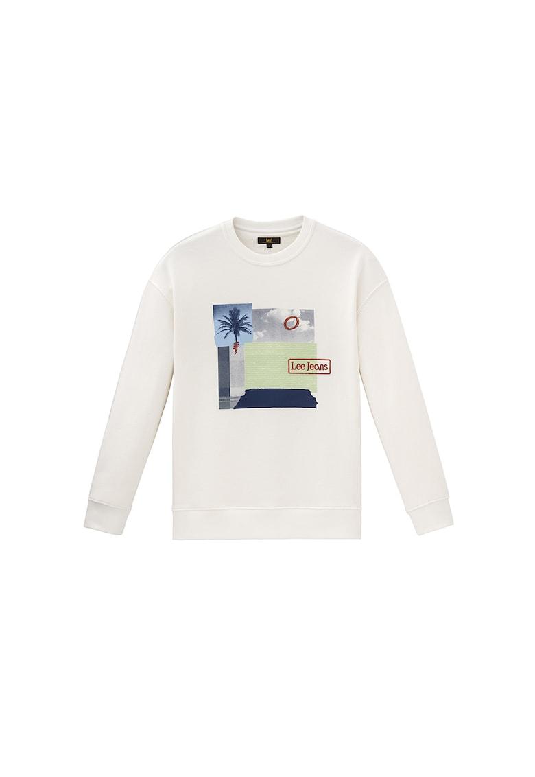 Bluza sport de bumbac cu imprimeu grafic