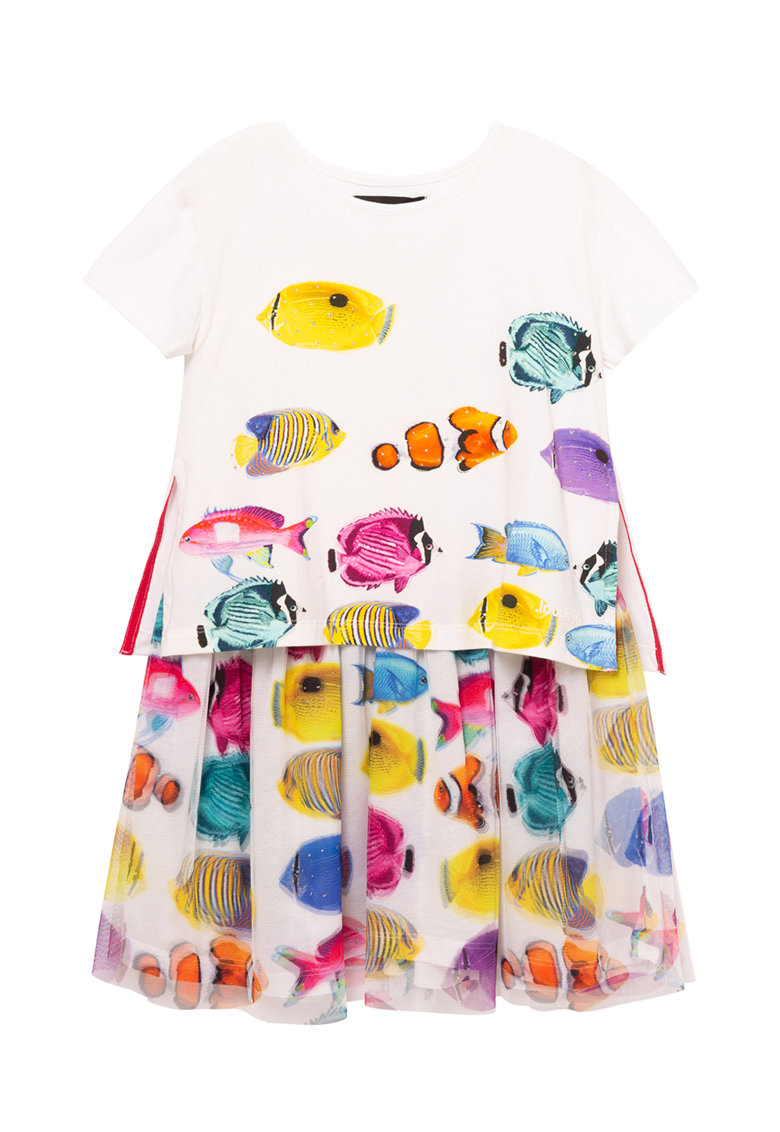 Rochie cu imprimeu cu pesti DESIGUAL