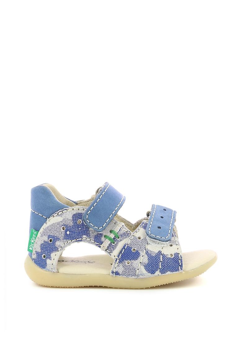 Sandale din piele cu imprimeu abstract
