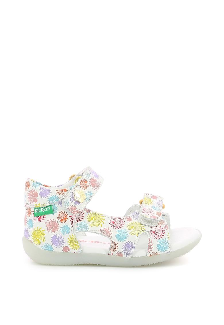 Sandale din piele cu imprimeu grafic