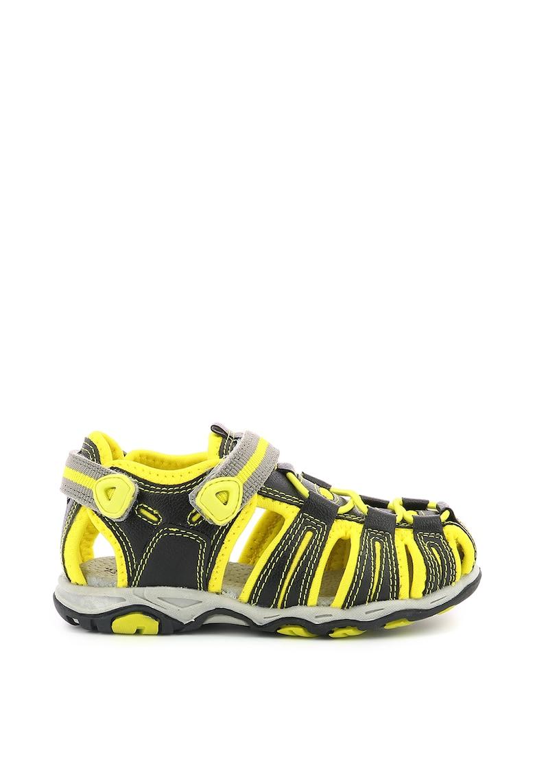 Sandale din piele ecologica cu inchidere velcro