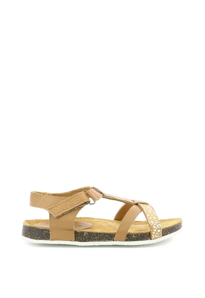 Sandale din piele cu barete multiple poza fashiondays