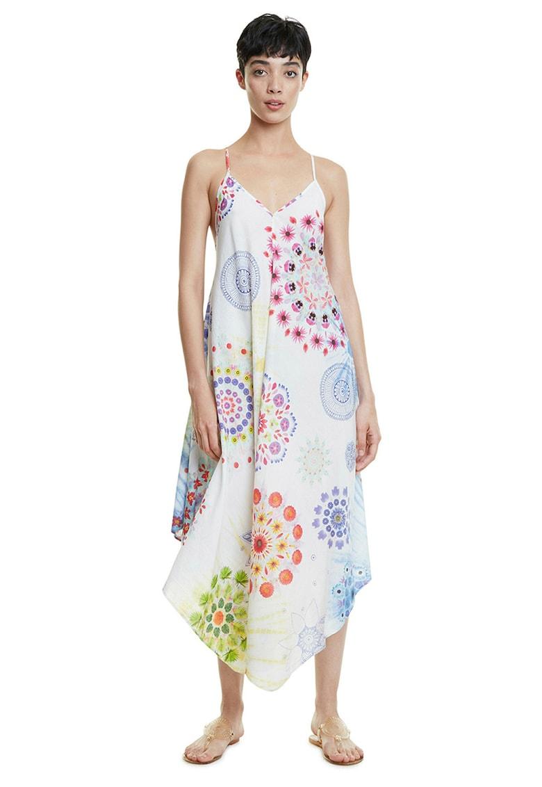Rochie din amestec de modal cu diverse modele imagine fashiondays.ro