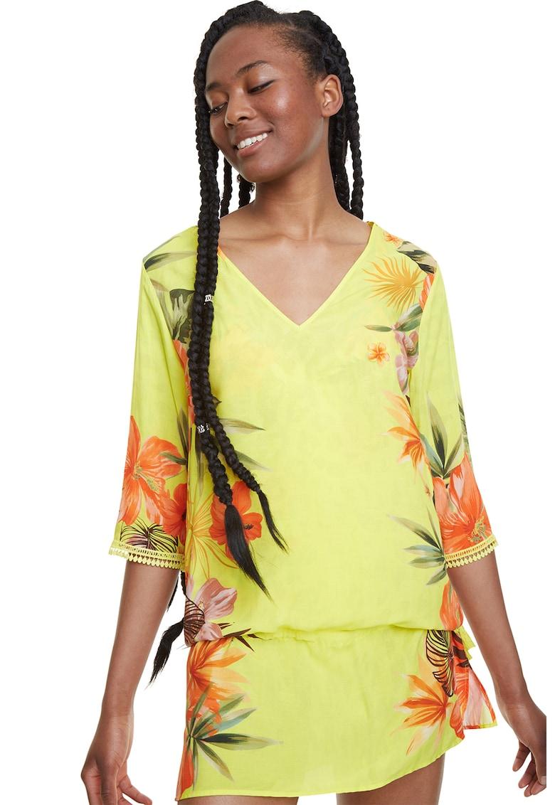 Bluza tip tunica cu model floral