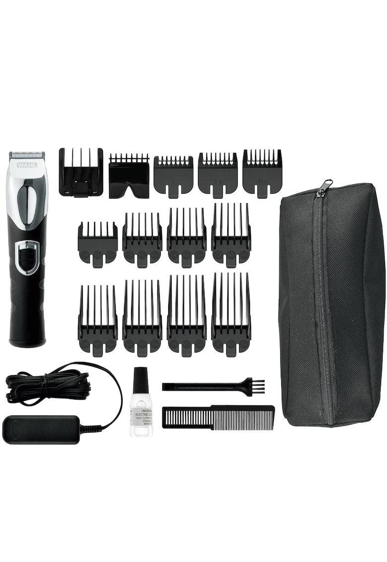 Wahl Aparat de tuns barba  Grooming  - alimentare acumulator - 180 minute autonomie - 19 trepte taiere - lame carbon - 12 capete ghidare incluse - negru