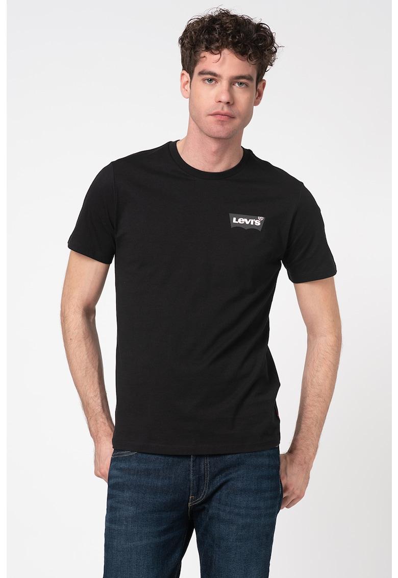 Tricou cu decolteu la baza gatului si logo 22489 imagine