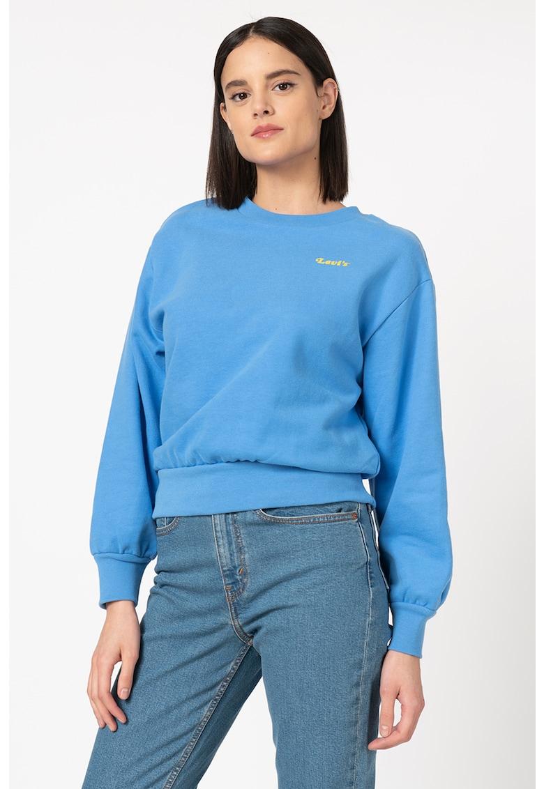 Bluza sport cu detaliu logo pe piept imagine