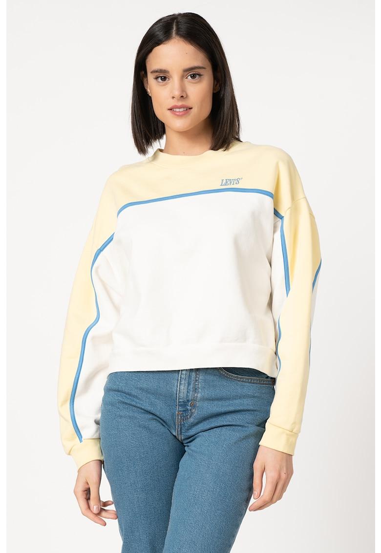 Bluza sport crop cu broderie logo poza fashiondays