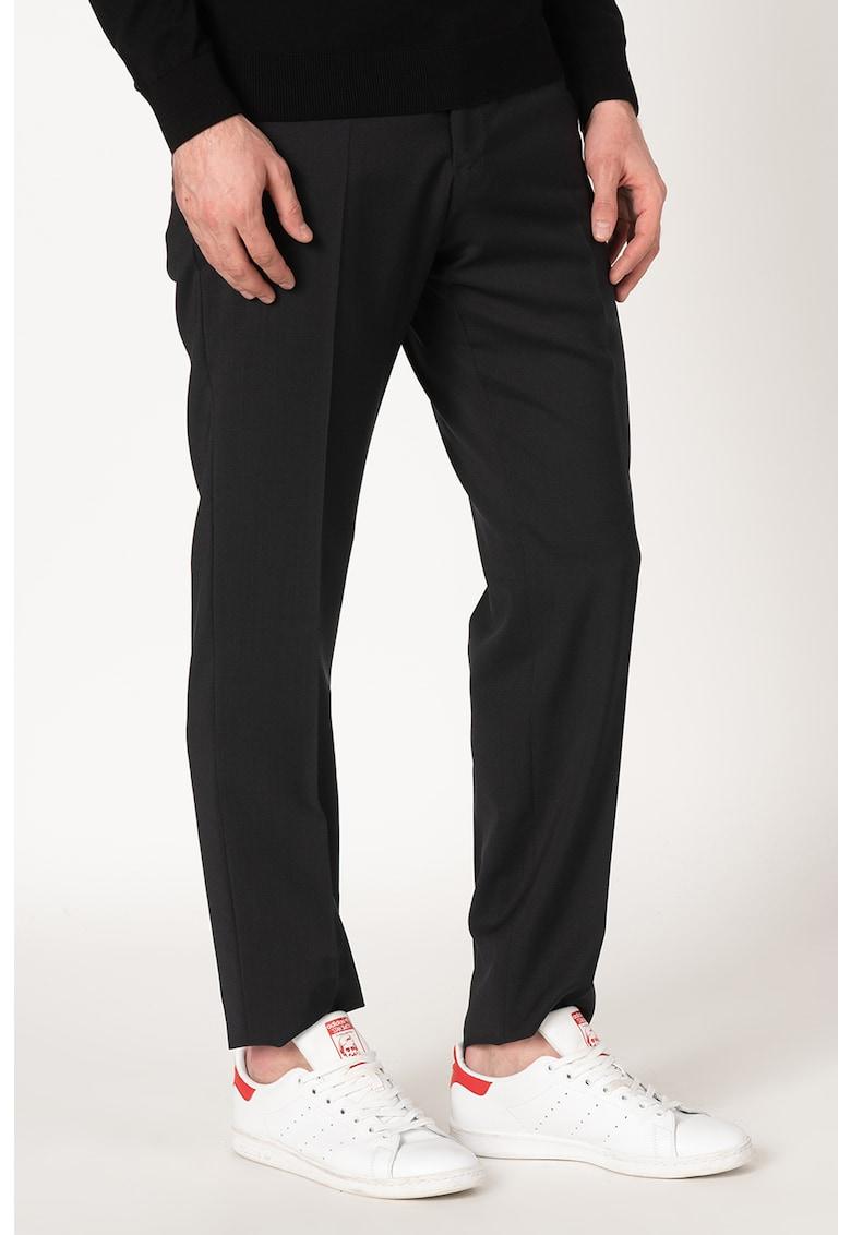 Pantaloni eleganti din lana cu croiala conica