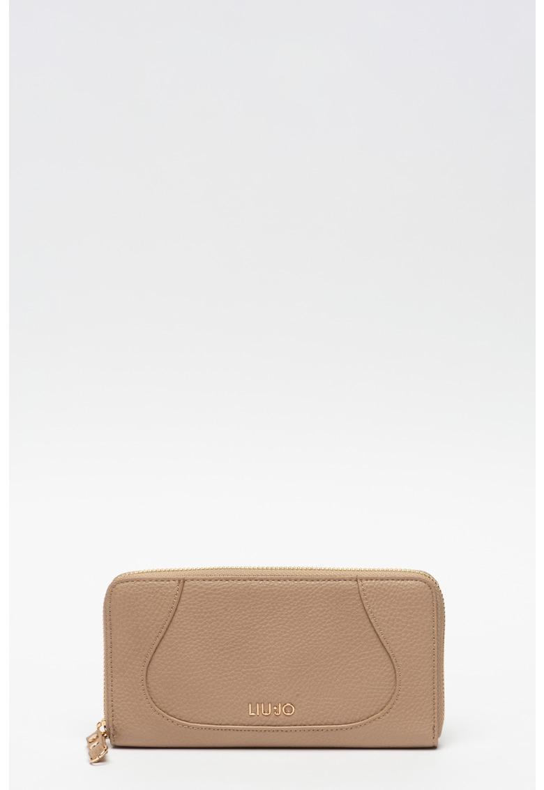 Portofel de piele ecologica - cu fermoar imagine fashiondays.ro 2021
