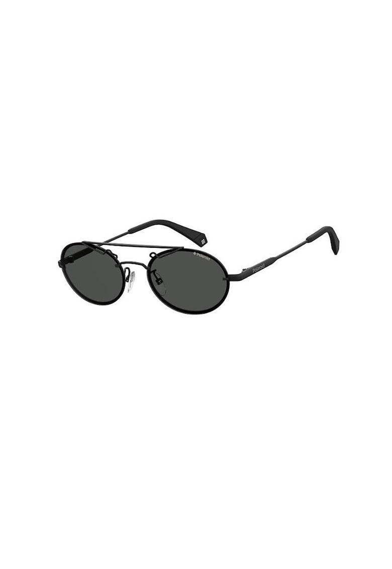 Ochelari de soare aviator unisex cu lentile rotunjite