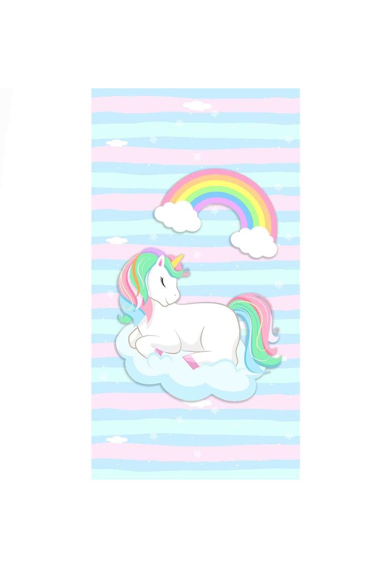 Covor cu print digital copii Unicorn Multicolor