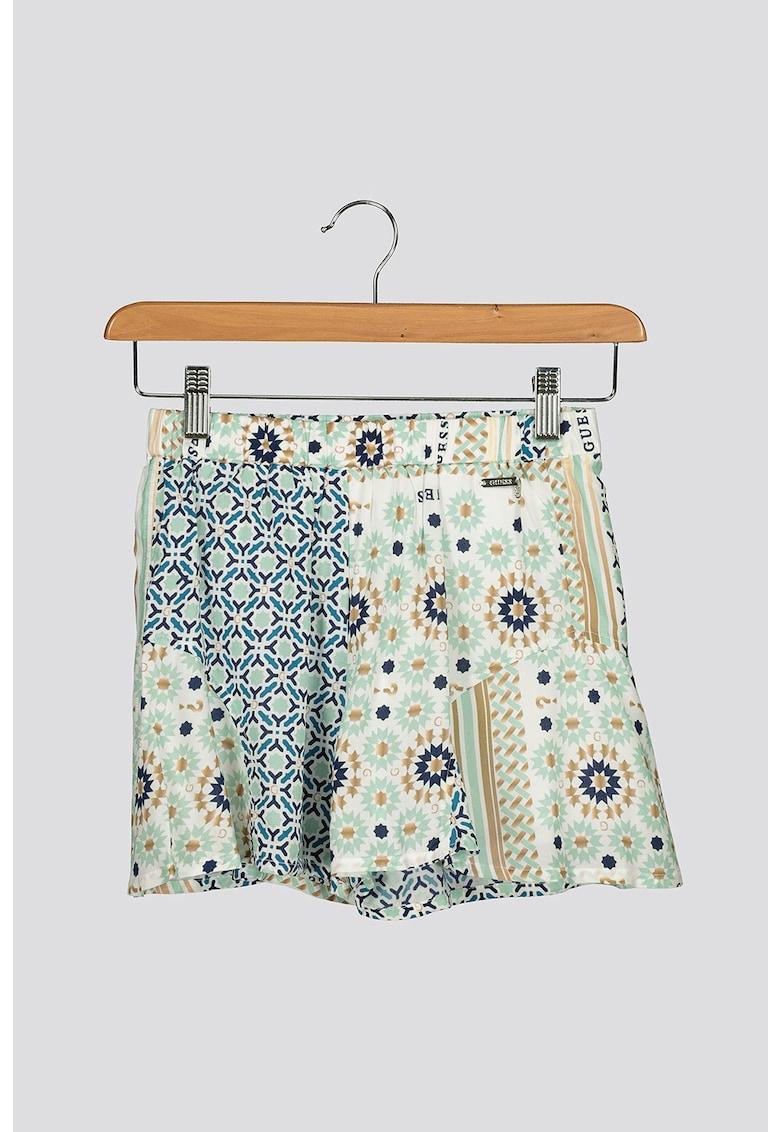 Pantaloni scurti evazati cu talie elastica imagine
