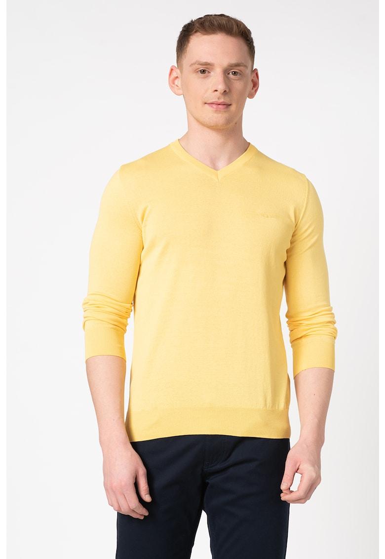 Pulover tricotat fin cu logo brodat Odder