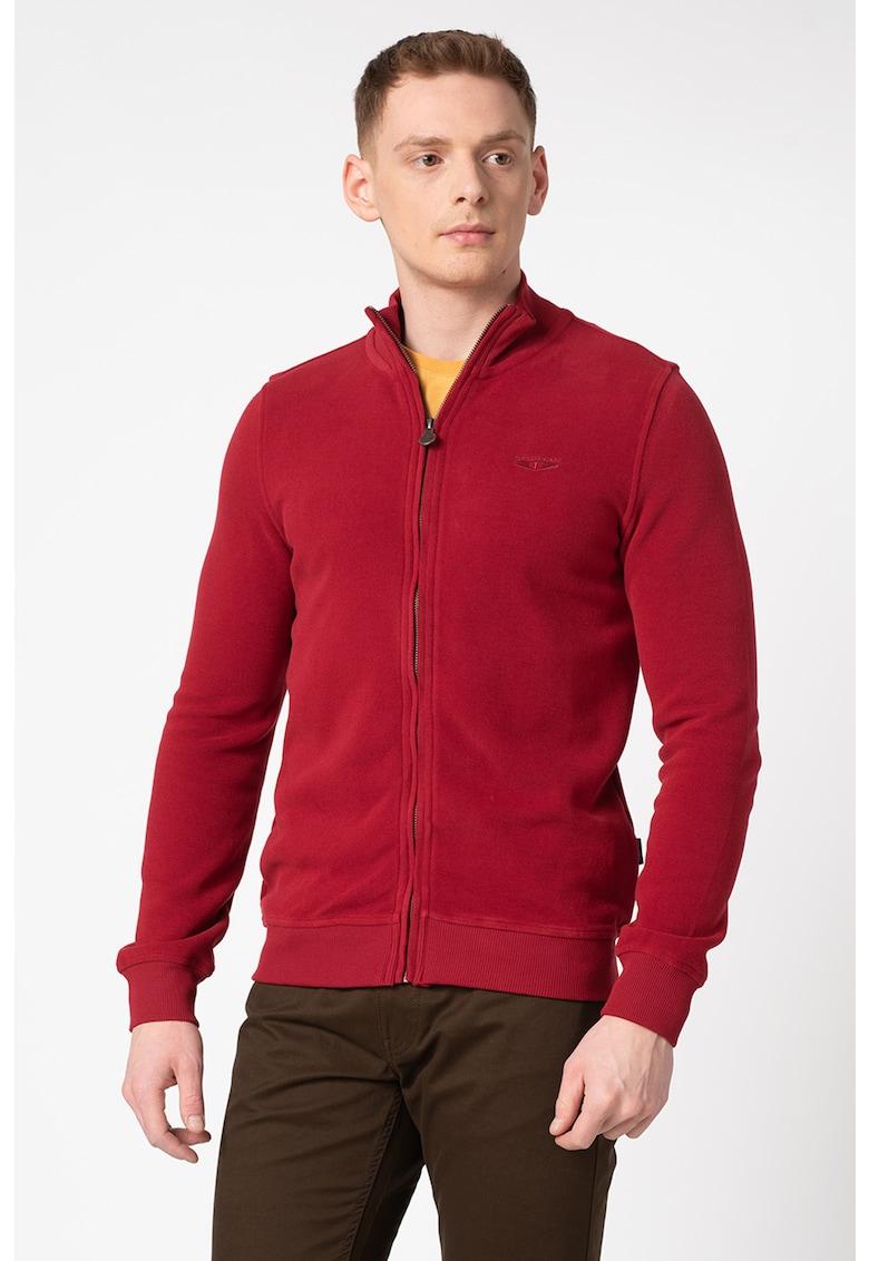Pulover din tricot fin cu fermoar Tiran