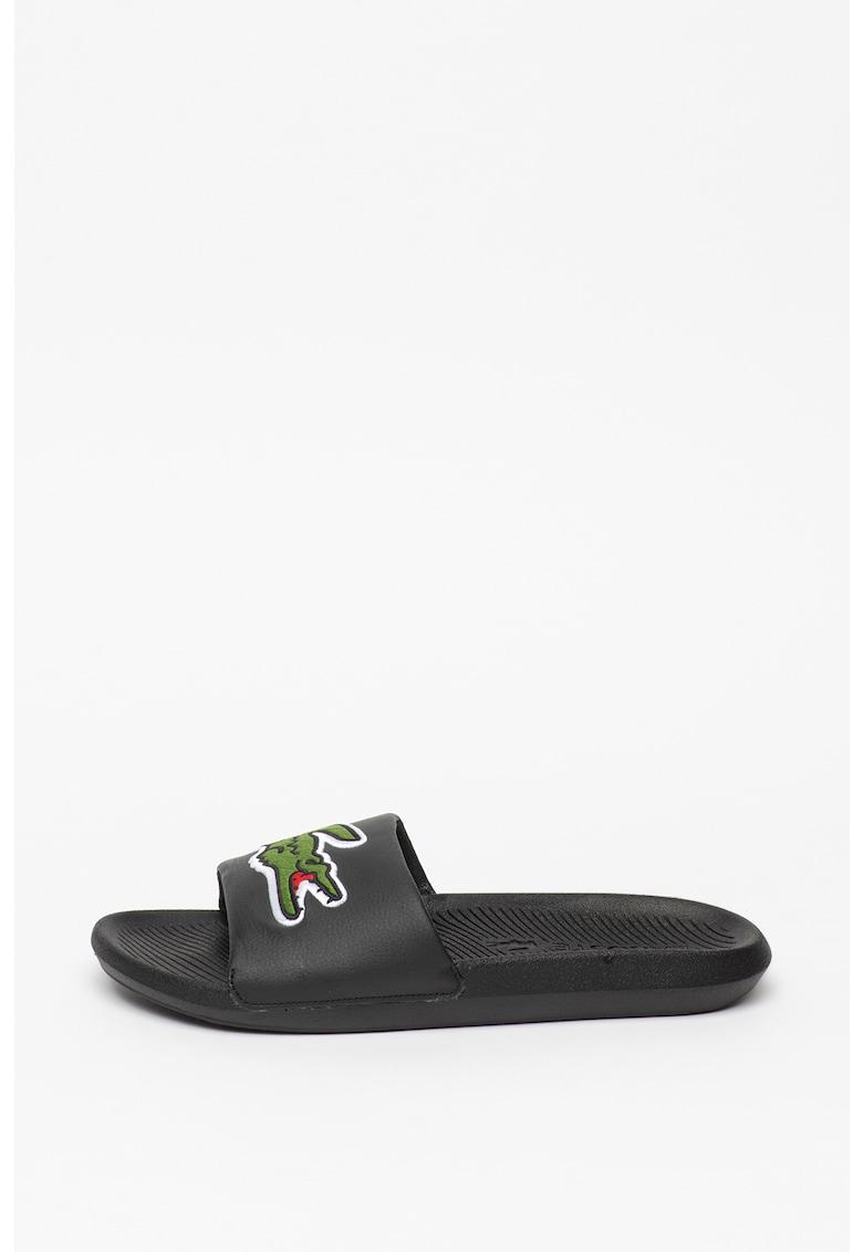 Papuci de piele ecologica - cu logo brodat imagine