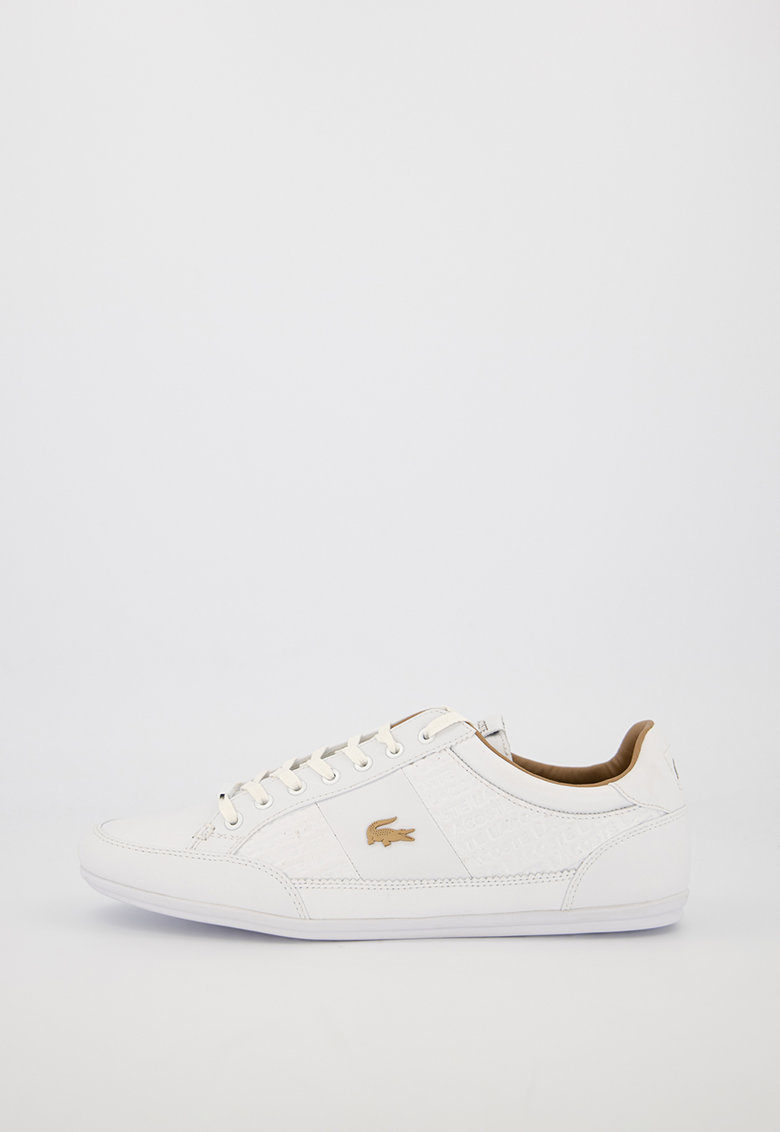 Pantofi sport de piele si piele ecologica - cu logo metalic Chaymon Lacoste fashiondays.ro