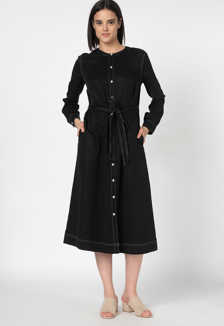 Rochie tip tunica din lyocell - cu cordon
