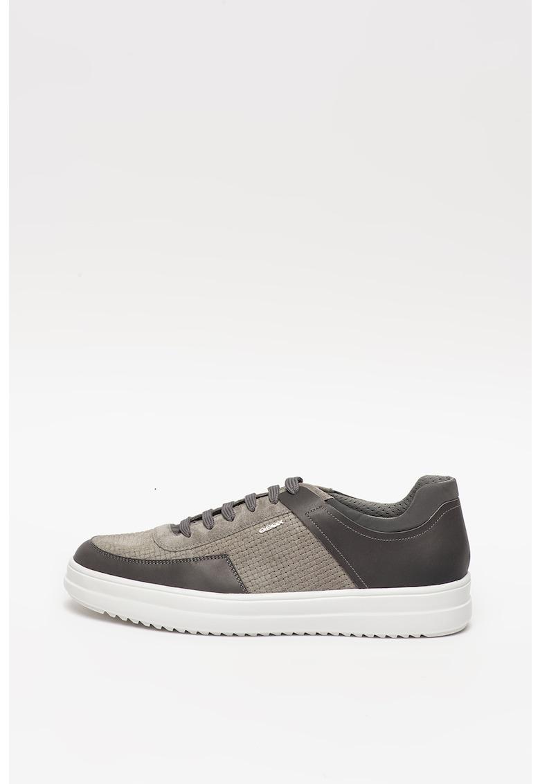 Pantofi sport din piele intoarsa si piele cu insertii texturate Tayrvin