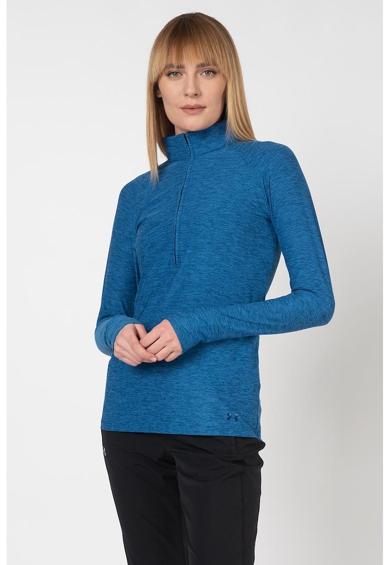 Bluza lejera cu fenta cu fermoar - pentru fitness Zinger imagine fashiondays.ro 2021