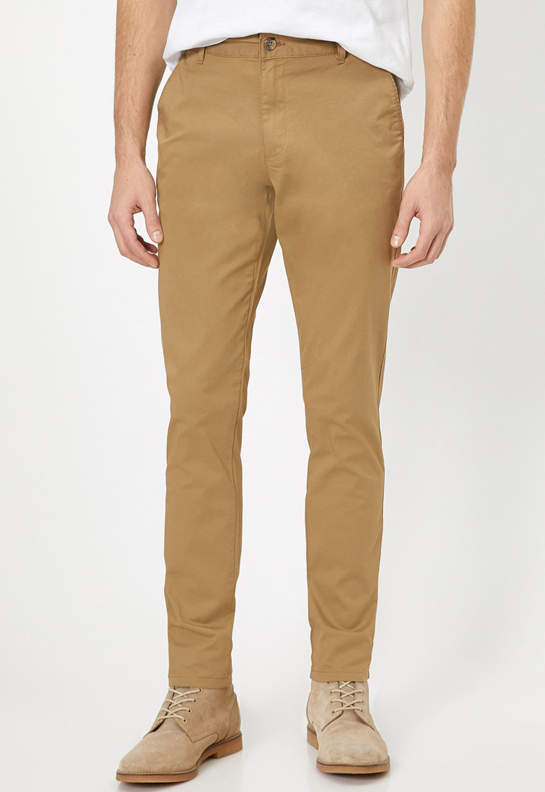 Pantaloni chino din amestec de bumbac
