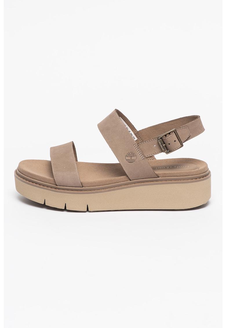 Sandale de piele nabuc Safari Dawn 2 Timberland fashiondays.ro