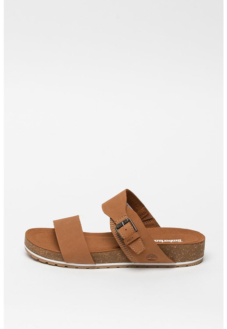 Papuci de piele nabuc Malibu Waves