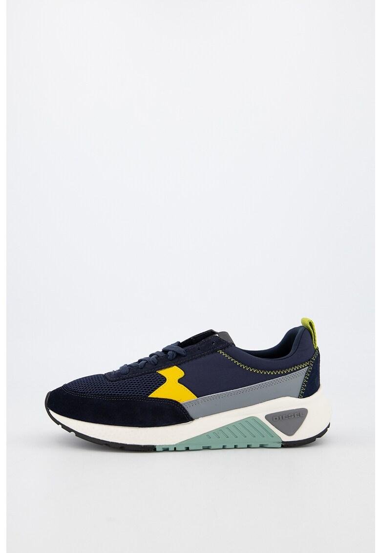 Pantofi sport de piele si material textil KB