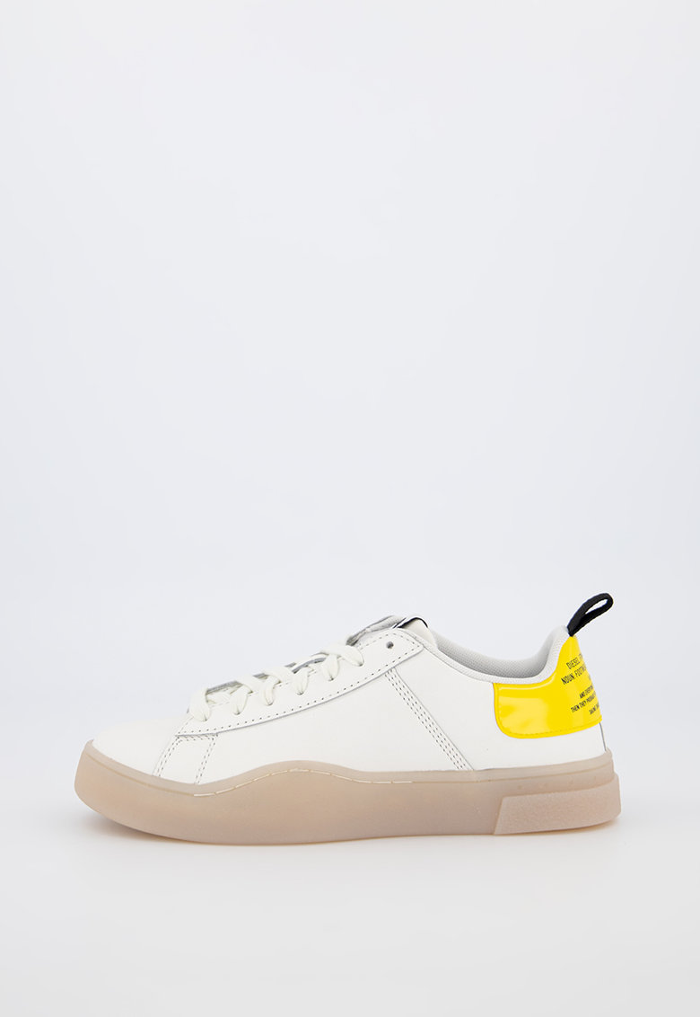 Pantofi sport de piele cu garnitura lacuita S-Clever