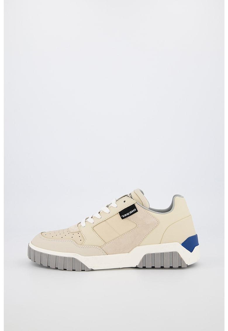 Pantofi sport de piele cu insertii textile Rua