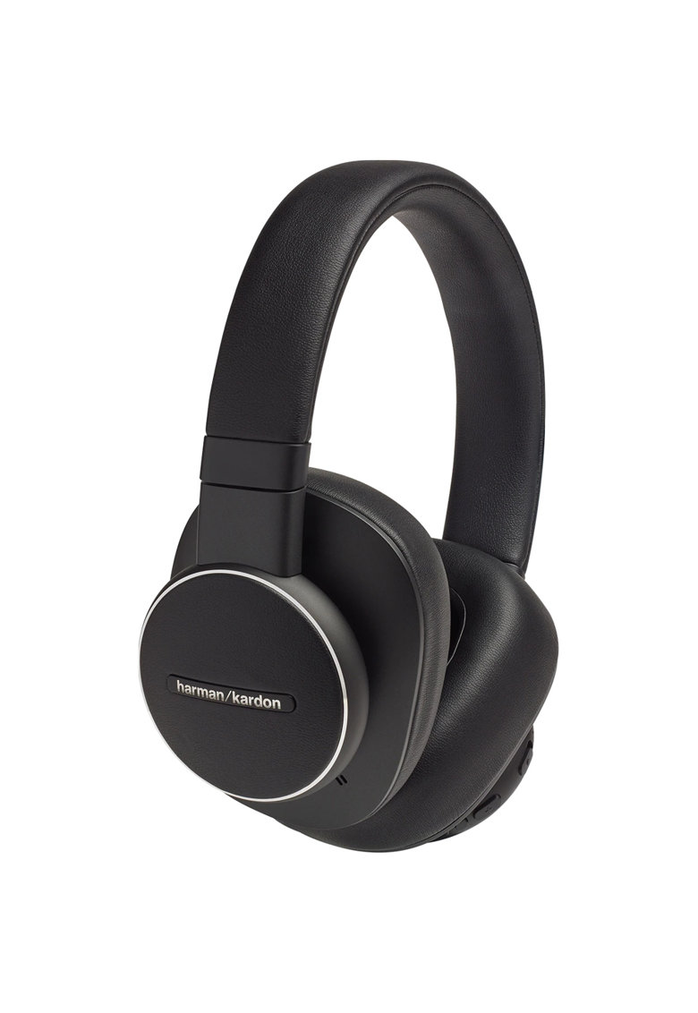 Casti audio over-ear Fly ANC - Bluetooth - Active Noise Cancelling - Asistent Google & Amazon Alexa - Negru
