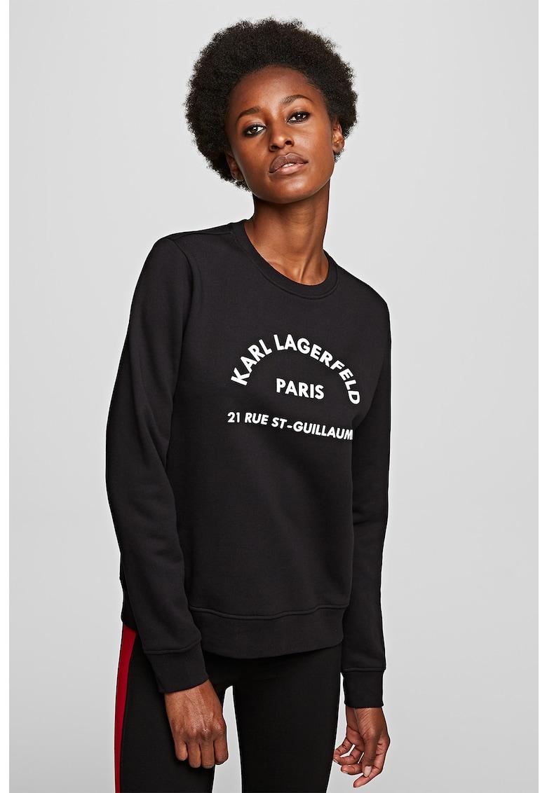 Bluza sport cu imprimeu logo imagine