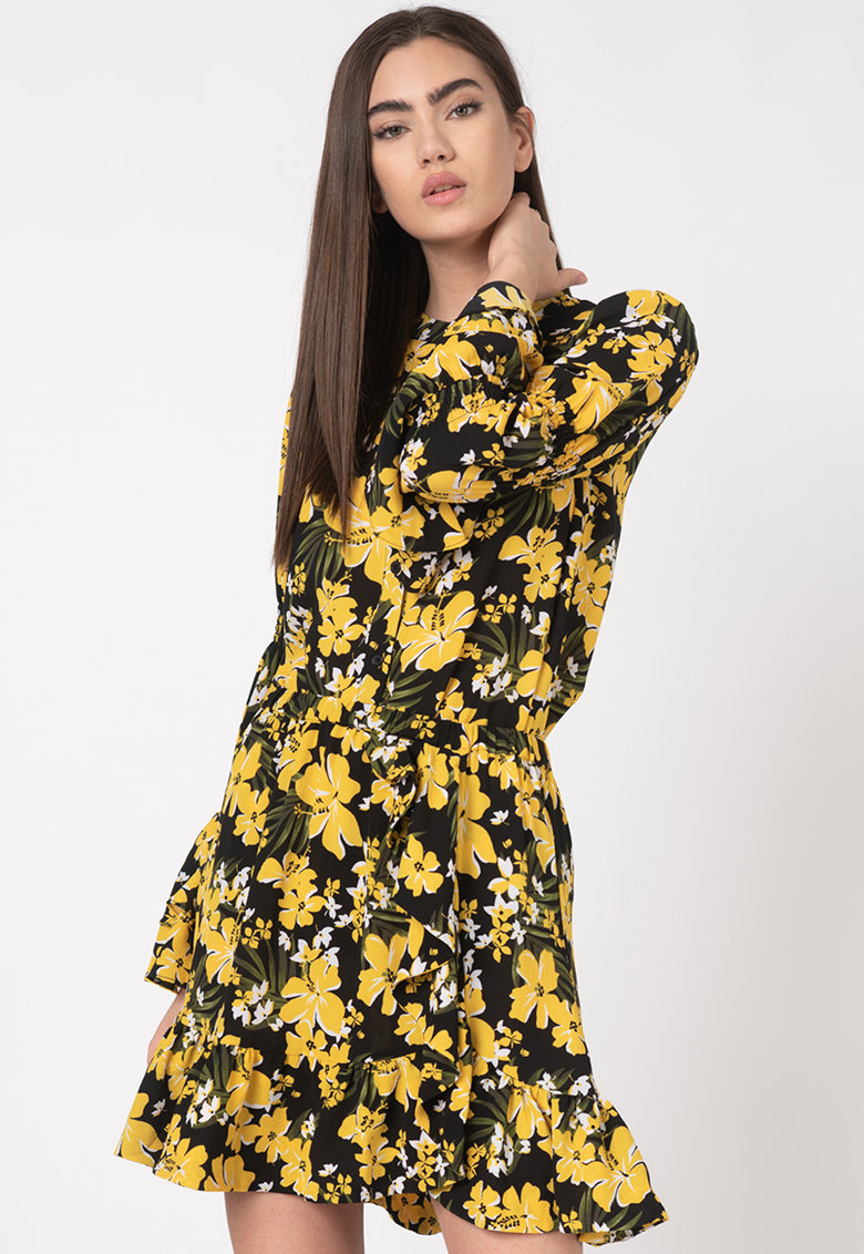 Camasa tip tunica cu model floral