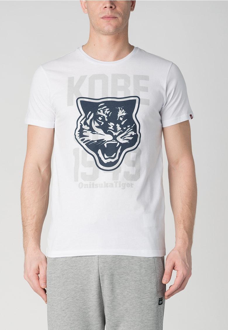 Tricou alb cu imprimeu imagine fashiondays.ro 2021