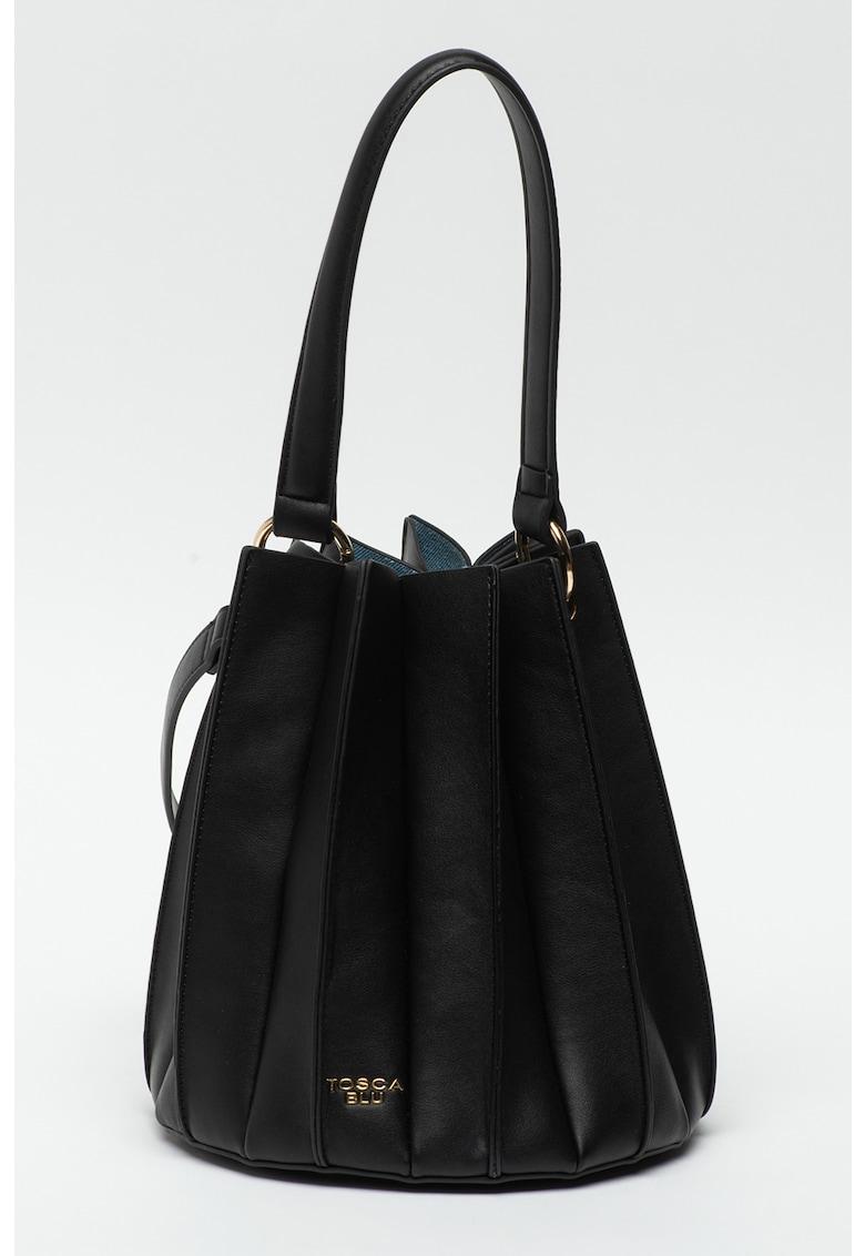 Geanta bucket de piele ecologica Lilla Tosca Blu fashiondays.ro