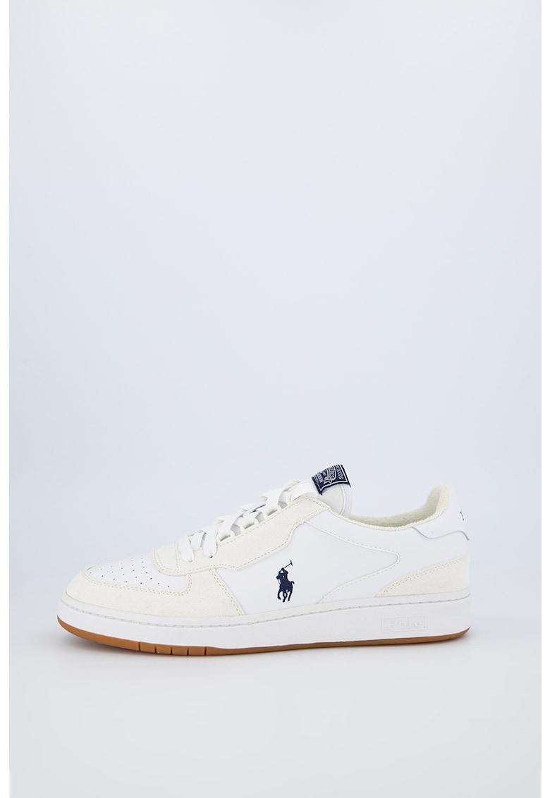 Pantofi sport de piele ecologica - cu garnituri de piele intoarsa Polo