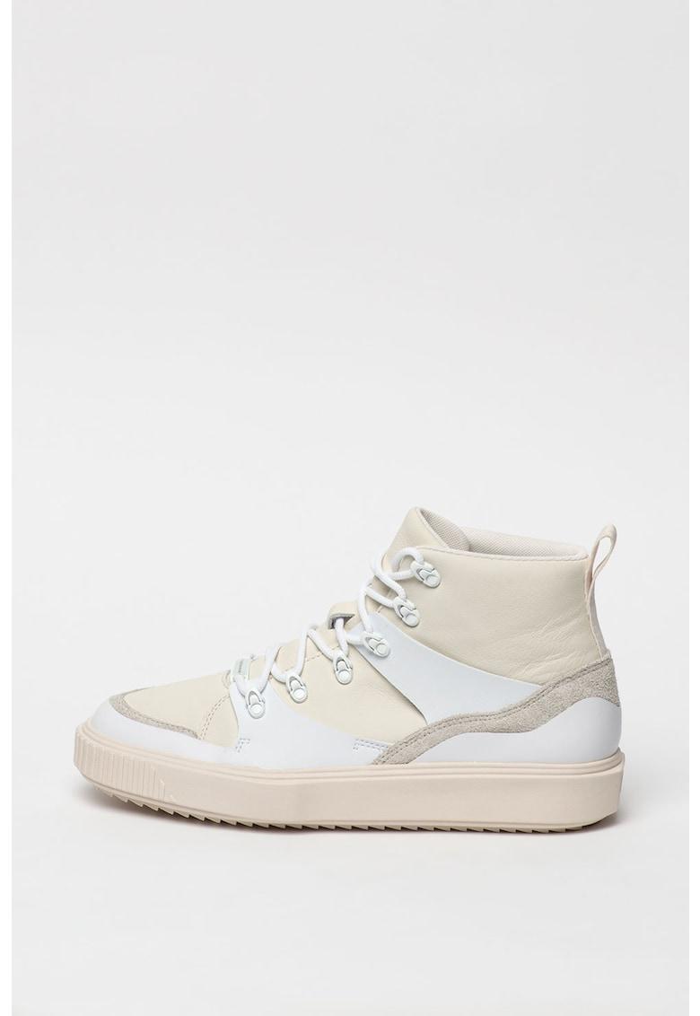 Pantofi sport mid-high cu insertii din piele Breaker imagine promotie