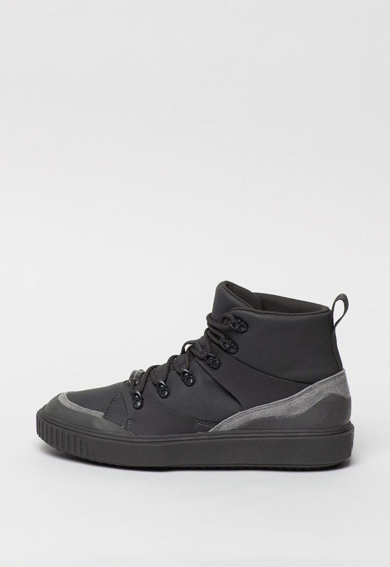 Pantofi sport mid-high din piele cu garnituri din piele ecologica Breaker