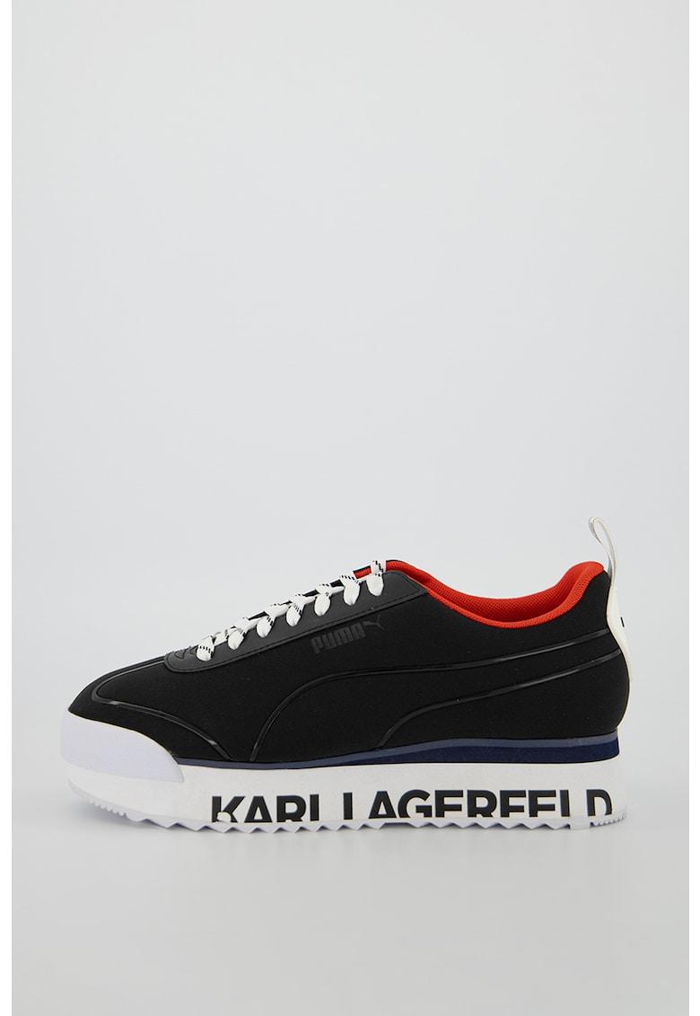 Pantofi sport cu model logo Roma Amor