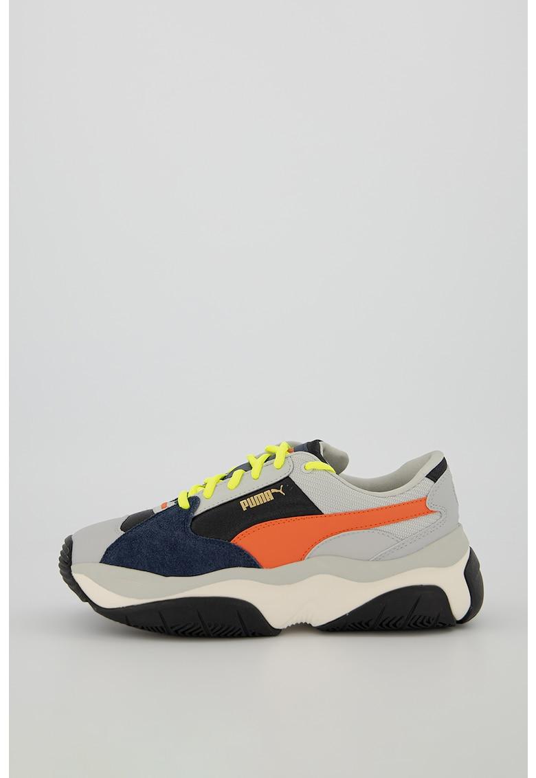 Pantofi sport cu insertii din piele si piele intoarsa Storm
